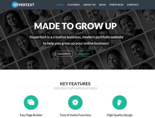Hypertext - Flat Portfolio WordPress Theme