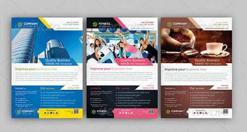 Corporate Business Flyers Bundle. Multipurpose A4 Flyer Template  Flyer Samples Templates