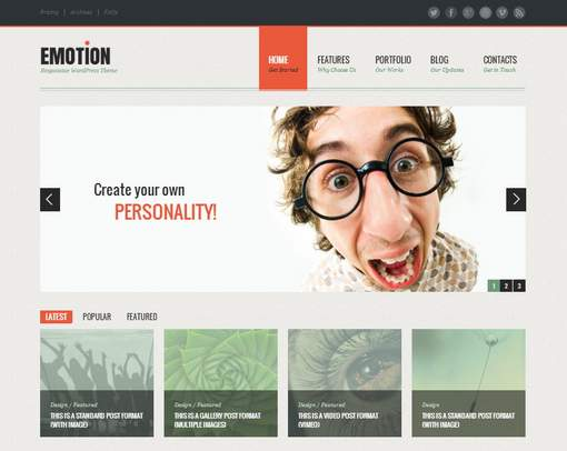 Emotion - HTML5 and CSS3 WordPress Theme
