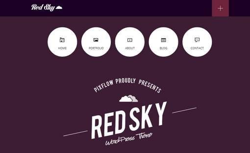 Red Sky - One Page Multi-Purpose Theme