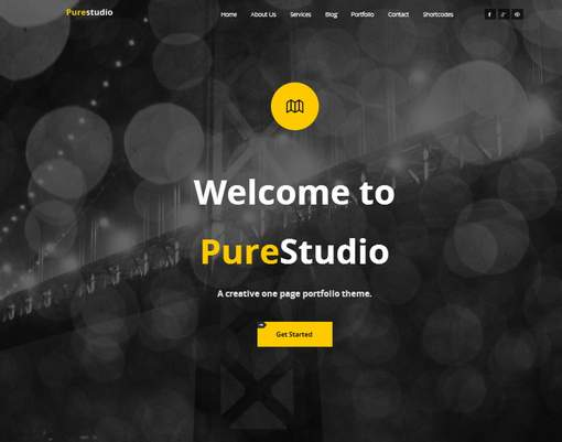 Purestudio One Page Theme