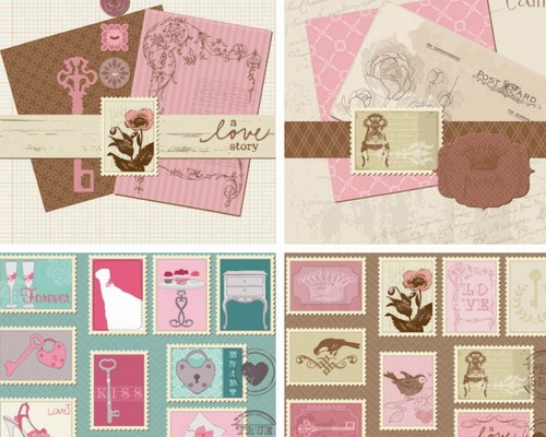 Download 8 free wedding invitations template in psd xdesigns vintage decorative wedding invitations eps stopboris Choice Image