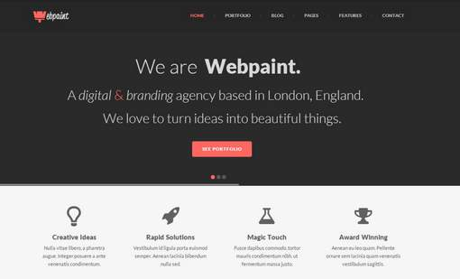 Webpaint - 2 in 1 Responsive WordPress Theme