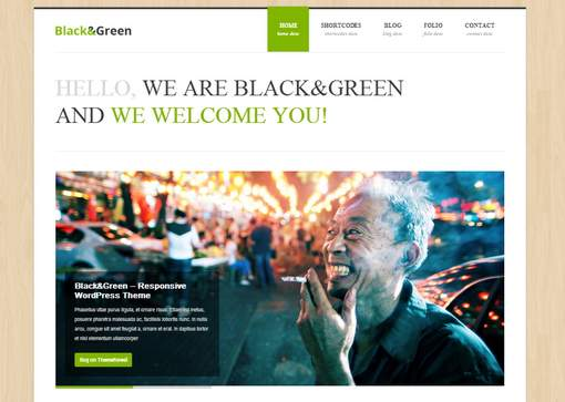 Black&Green - Responsive WordPress Theme
