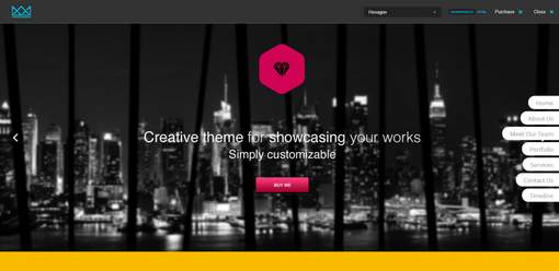 Hexagon Creative Single Page WordPress Theme