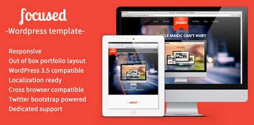 focused HTML5 Responsive WordPress Theme