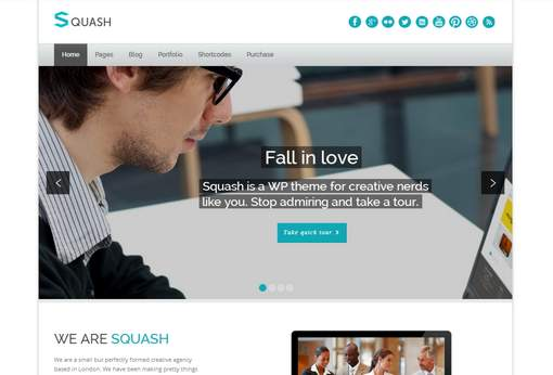 Squash - Creative Portfolio WordPress Theme