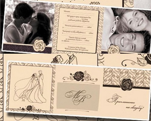 Download Free Wedding Invitations Template In PSD XDesigns - Wedding invitation templates with photo