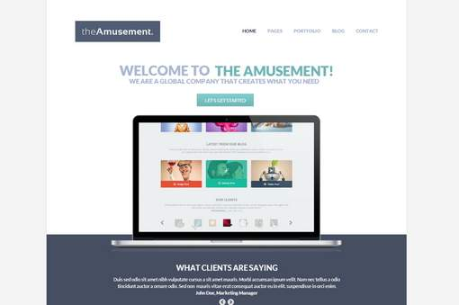 The Amusement - Responsive Portfolio Theme