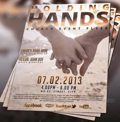 christian church flyers templates