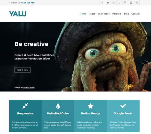 Yalu - Creative Multipurpose Template