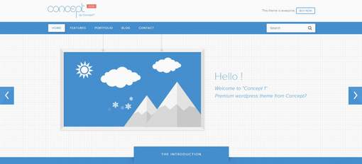 Concept 1 - Modern WordPress Theme