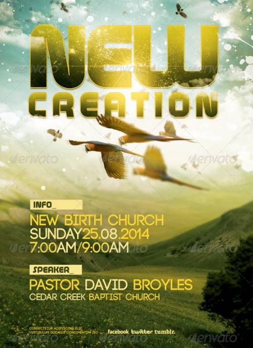 New Creation Church Flyer Or Flier Template