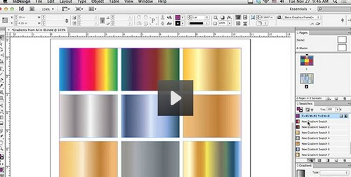 Using Illustrator Gradients in Adobe InDesign (Video Tutorial)