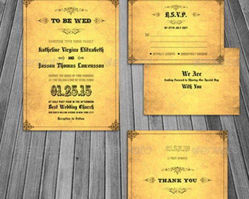Download 8 Free Wedding Invitations Template In PSD