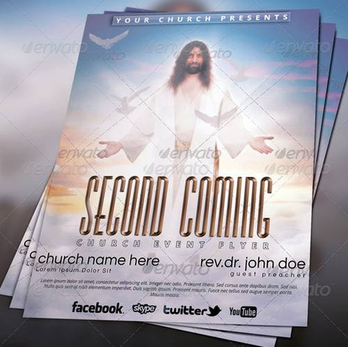 Free Church Flyer Design Templates Eczalinf