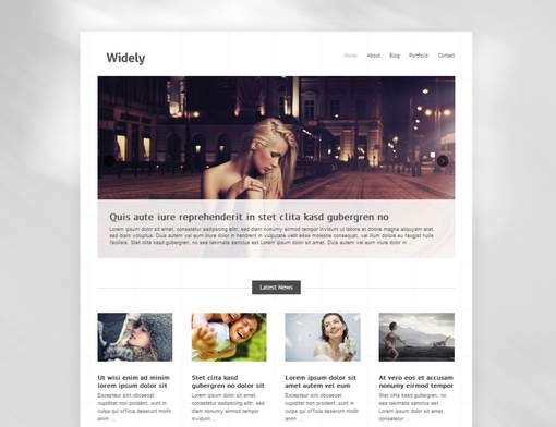 Widely minimalist theme for creatives