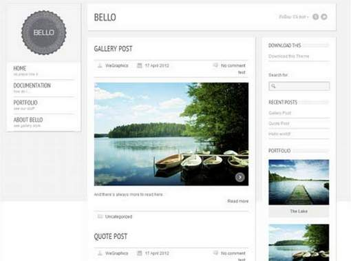Bello Free WordPress Theme