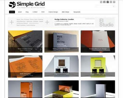 Simple Grid Responsive WP Theme