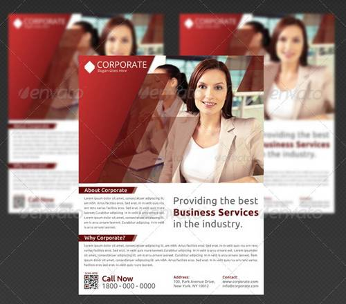 3 layered psd multipurpose flyer template for business