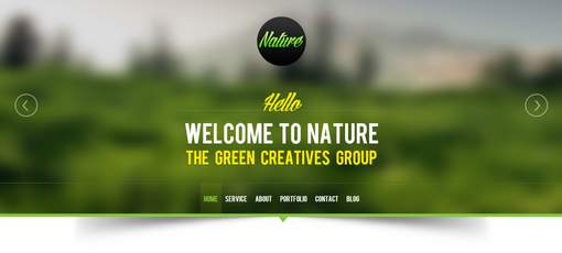 Nature - Responsive Onepage Portfolio WordPress Theme