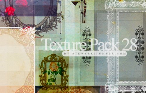 Vintage paper and frames Textures by Rosebein