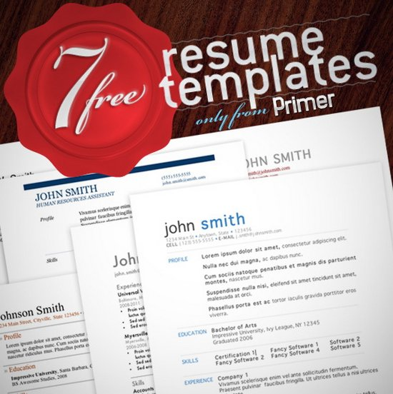 7 free minimalist resume templates - Visual Resume Samples Doc