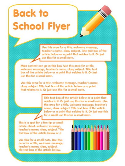 15 Free Microsoft Word Newsletter Templates for Teachers School – Flyer Templates Word
