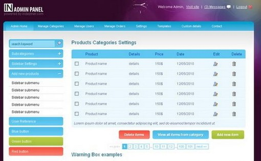 15 free admin panel website templates xdesigns for Jquery admin panel template free download