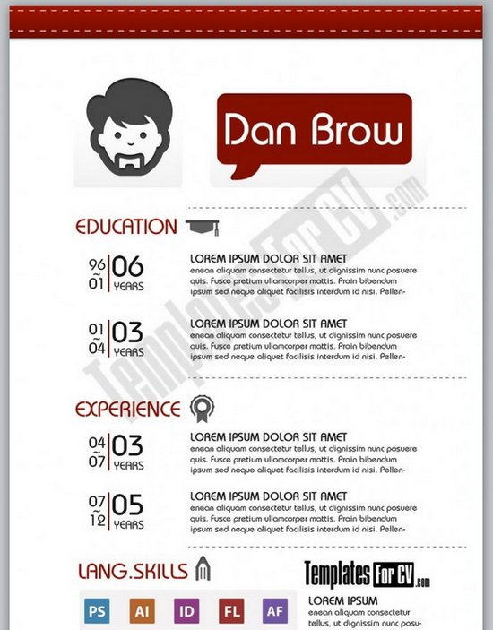graphic design resume template - Awesome Resume Templates Free
