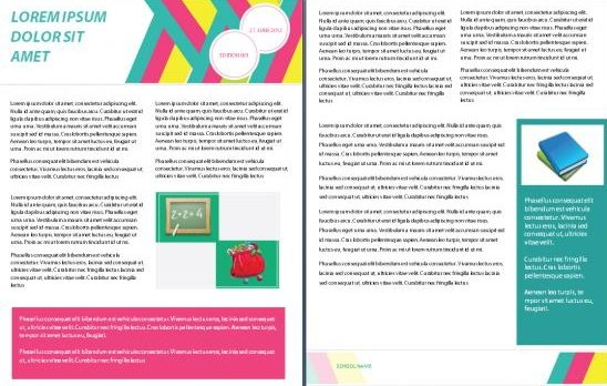 school and academic word newsletter templates