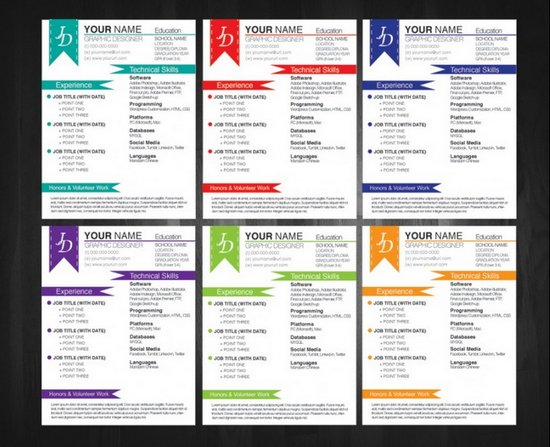 visual resume templates free download doc format in ms word 2007 creative psd