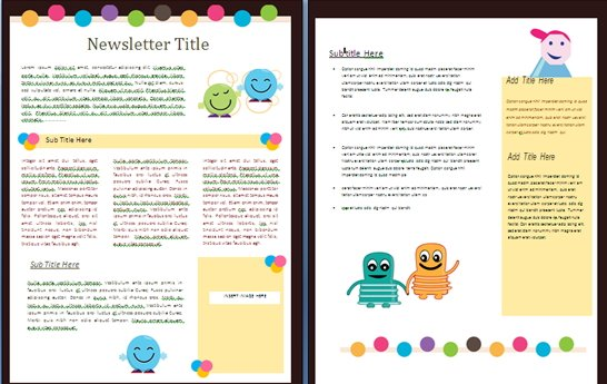 Delightful Creature Newsletter For Kids  Free Download Word Template