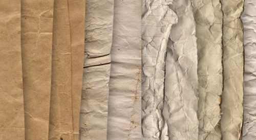 Crumpled paper - texture pack by raduluchian