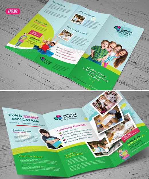 Awesome Corporate Brochure Templates XDesigns - Tri fold school brochure template