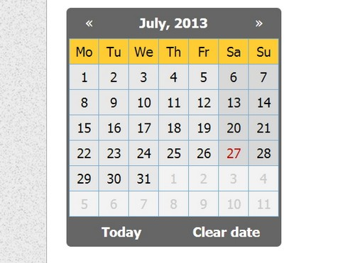 12 Powerful jQuery Calendar and DatePicker Plugins - XDesigns