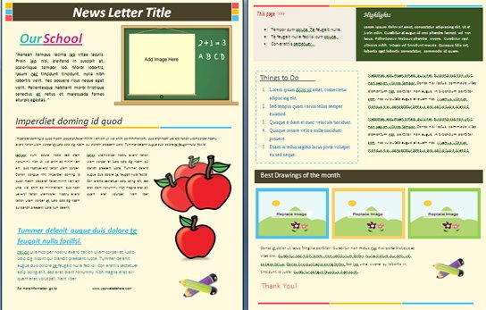 Good School Template Pertaining To Free School Newsletter Templates For Word