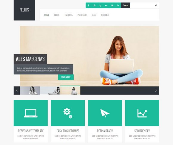40 free and premium business wordpress themes xdesigns felius responsive wordpress theme felius is a responsive business friedricerecipe Gallery