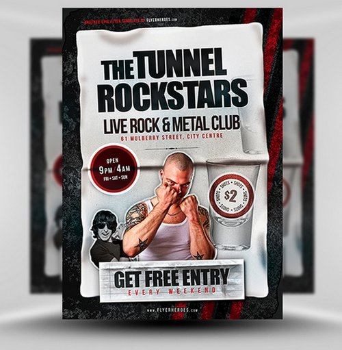 Tunnel Nightclub Flyer