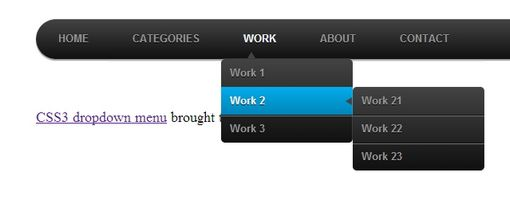 CSS3 dropdown menu - red-team-design