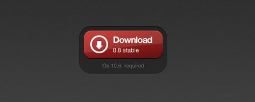 Red Download Button by 365psd