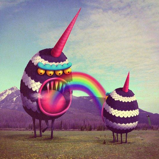 crazy monster illustrations artwork by juan carlos paz