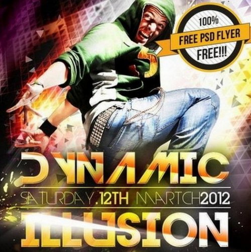 Dynamic Illusion Poster and Flyer