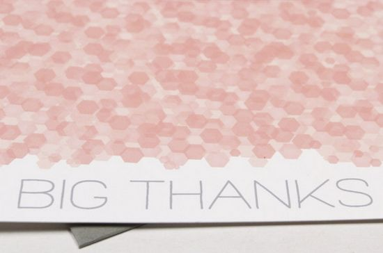 Sequins Thank You Note