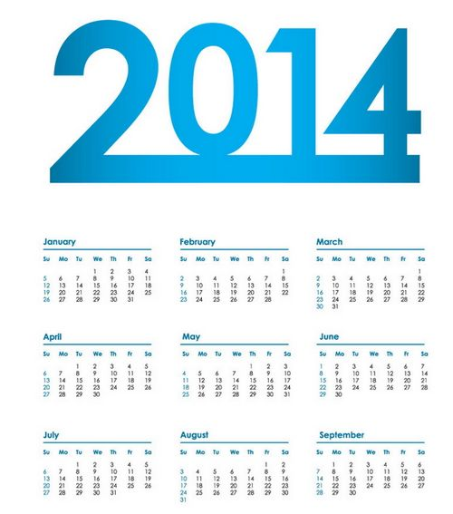 15 Free Printable 2014 Calendar Templates Xdesigns