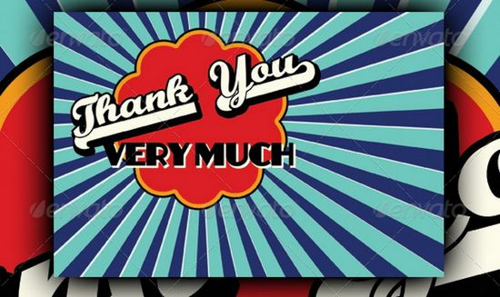 Retro Thank You Cards
