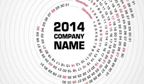 Beautiful Company Calendar 2014 Template