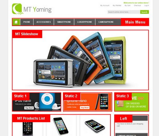 MT Yoming gadget magento themes