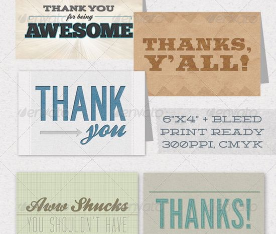 Thank You Card 5 Pack