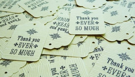 Printable mini thank you tags